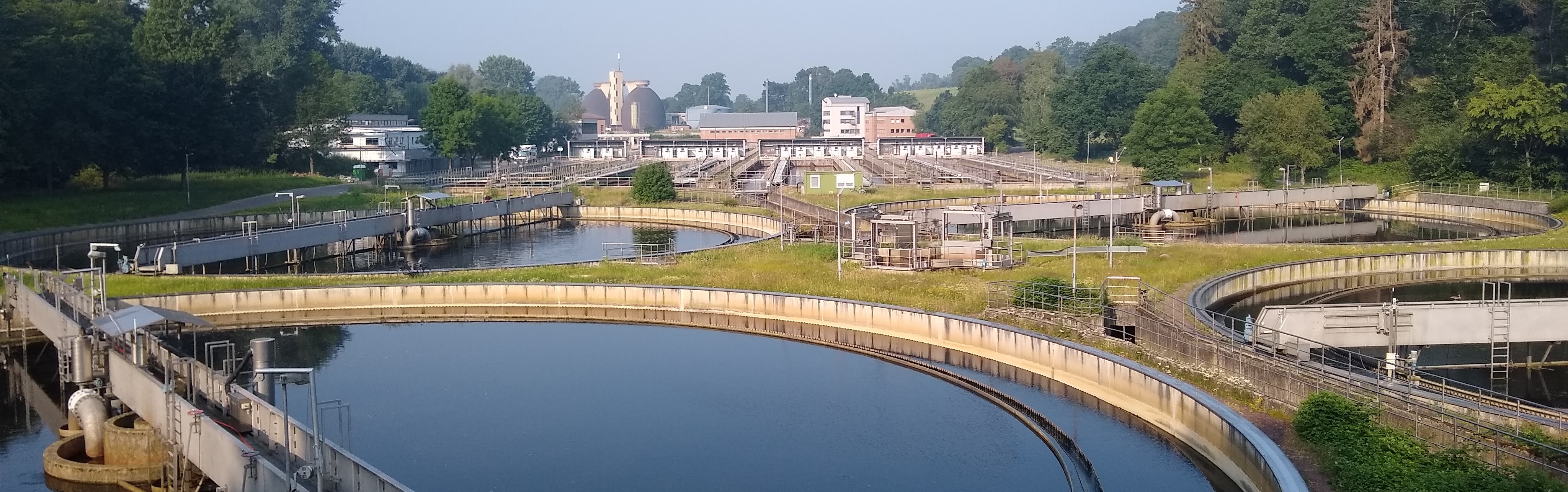 Overview of the sewage plant Aachen-Soers